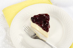 Top view blueberry cheesecake Royalty Free Stock Image