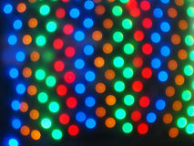 Top view on the blurred bright circles colored abstract Stock Images