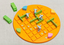 Top view of board game Quoridor Kid Stock Image