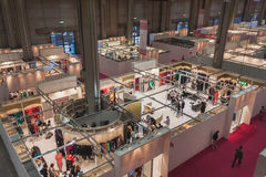 Top view of booths and people at Si' Sposaitalia in Milan, Italy Stock Photography