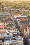 Top view of Bourbon Street  in the French Quarter, New Orleans Royalty Free Stock Photos