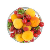 Top view on a bowl with berries Royalty Free Stock Image