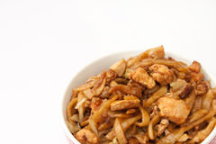 Top view of bowl with chinese meal Stock Images