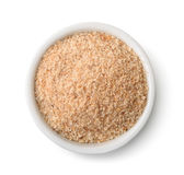 Top view of bowl full of breadcrumbs Royalty Free Stock Photo