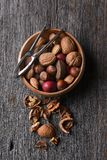 Mixed Nuts and Nutcracker Royalty Free Stock Image