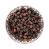 Top view of  Bowl of Organic Black pepper. Royalty Free Stock Photo