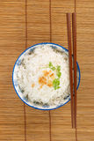 Top view of a bowl of rice Royalty Free Stock Photography