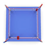 Top view on boxing ring. 3d. Top view on boxing ring  on white background. 3d illustration Royalty Free Stock Photo