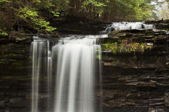 Top View of Bozenkill Preserve Falls. In New York stock image