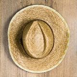 Top view of braided hat Stock Photos