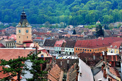 Top view of Brasov old town, Romania Royalty Free Stock Photography