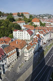 The top view of the Bratislava old town Royalty Free Stock Photos