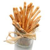 Breadsitcks in Jar Royalty Free Stock Image
