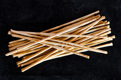Top view of breadsticks grissini torinesi Stock Image