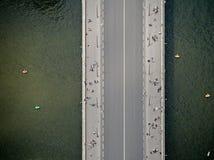 Top view at bridge Royalty Free Stock Photo