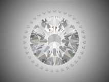 Top view of brilliant cut diamond Royalty Free Stock Photography
