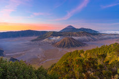 Top view of Bromo mountain Stock Photography