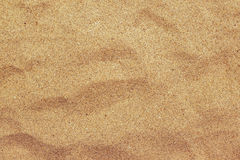 Top view of brown beach sand texture, summer holiday background Stock Photo