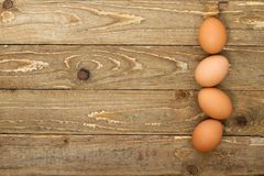 Top view of brown eggs royalty free stock images