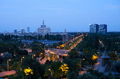 Top view of Bucharest Stock Photography