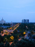 Top view of Bucharest Royalty Free Stock Photography