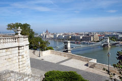 Top view from Buda castle of the  Budapest Stock Photography