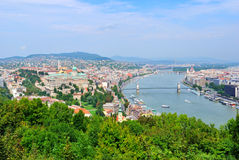 Top-view of Budapest, Hungary Royalty Free Stock Image