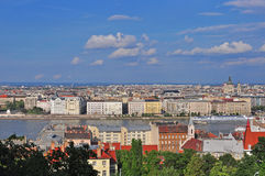 Top view of Budapest urban skyline, Hungary Stock Photography