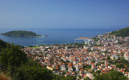 Top view Budva Montenegro Royalty Free Stock Photo