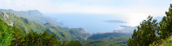 Top view of the Budva Riviera Royalty Free Stock Photography