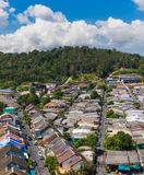 Top view of building and house of Phuket province in town area Royalty Free Stock Photos