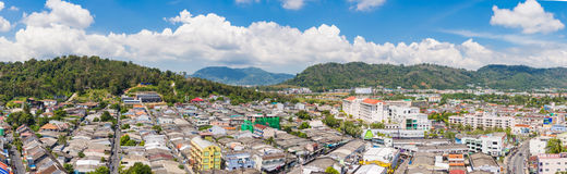 Top view of building and house of Phuket province in town area Stock Photo