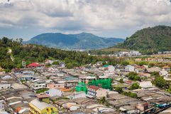 Top view of building and house of Phuket province in town area Royalty Free Stock Image