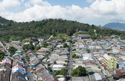 Top view of building and house of Phuket province in town area Royalty Free Stock Images