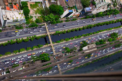 Top view building and road Royalty Free Stock Photography