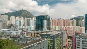 Top view of buildings at day in finance urban timelapse, hong kong city stock video footage