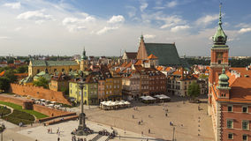 Top view of the buildings in Old center of Warsaw, Poland. Travel. Top view of the buildings in Old center of Warsaw, Poland Royalty Free Stock Images