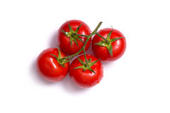 Top view on bunch of fresh tomatoes Royalty Free Stock Photos
