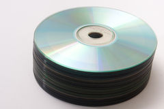 Top view of a bunch of old compact discs Royalty Free Stock Photography