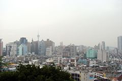 Macao is a city of gorgeous casinos. Landscapes of Asian Las Vegas. royalty free stock photos