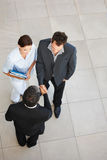 Top view of a business colleagues Stock Images