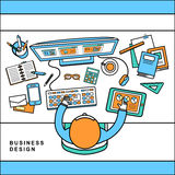 Top view of business design concept Stock Photo
