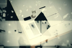 Top view of  business documents on office table Stock Photography
