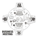 Top view business meeting concept Stock Images