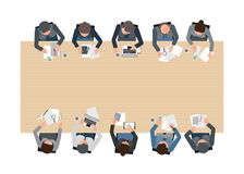 Top view of Business meeting. Stock Images
