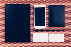 Top view of business objects for mock up design Royalty Free Stock Photography