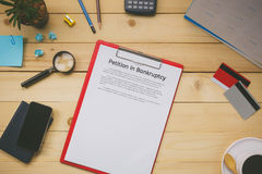 Top view business office concept  business discussing petition i Royalty Free Stock Image