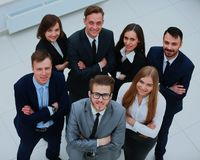 Top view of business people. Top view of business people Royalty Free Stock Photography