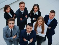 Top view of business people. Top view of business people Royalty Free Stock Photo