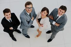 Top view of business people. Top view of business people Royalty Free Stock Images